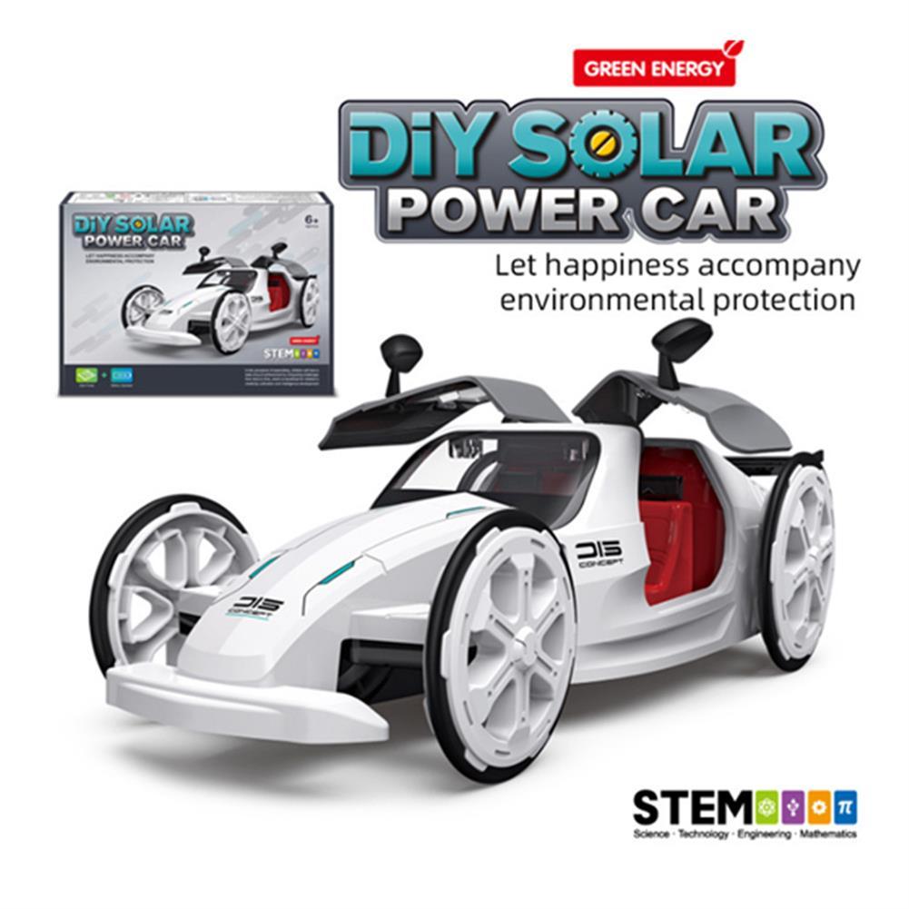 solar-powered-toys DIY Solar Power Car Electric 4-wheel Drive Model Educational Toys for Children HOB1828131 1