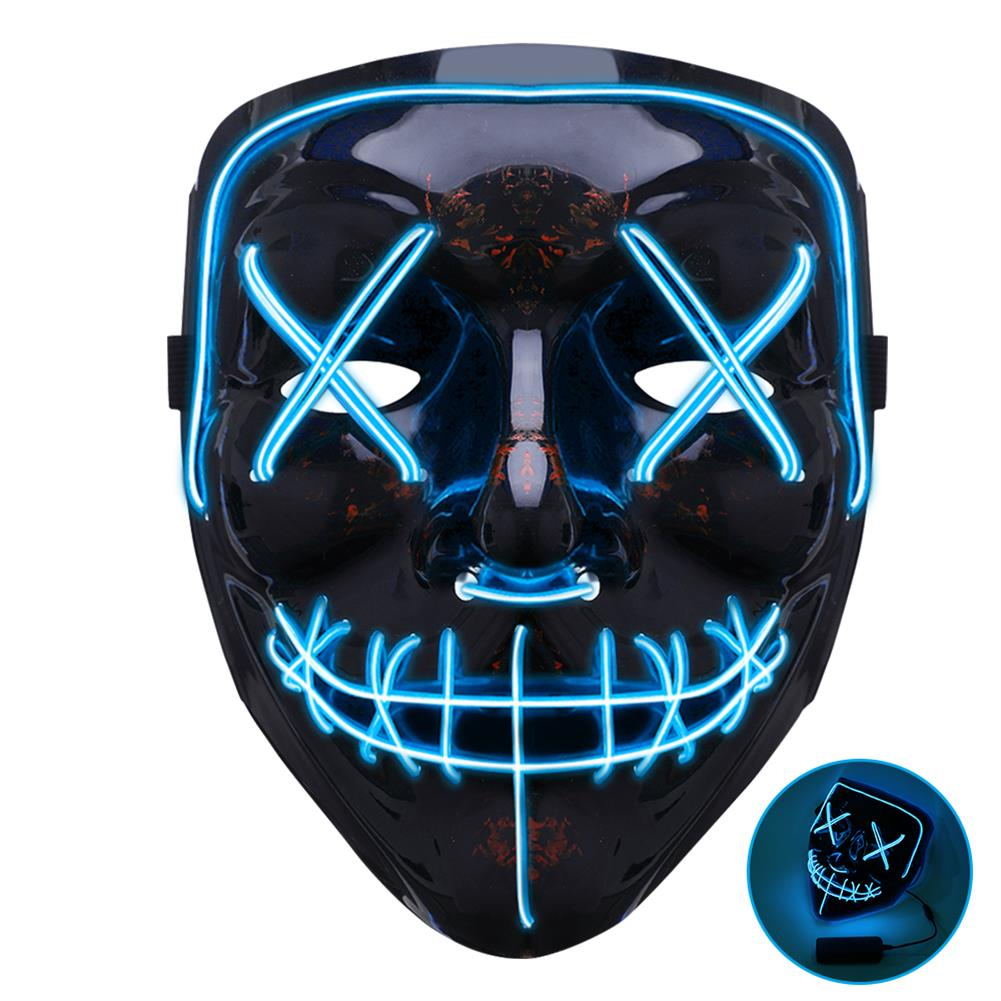 mask-costumes Clown Plastic Mask with Remote Control 3 Glowing Colors about Red/Blue/Green for Party Toys HOB1828132 1