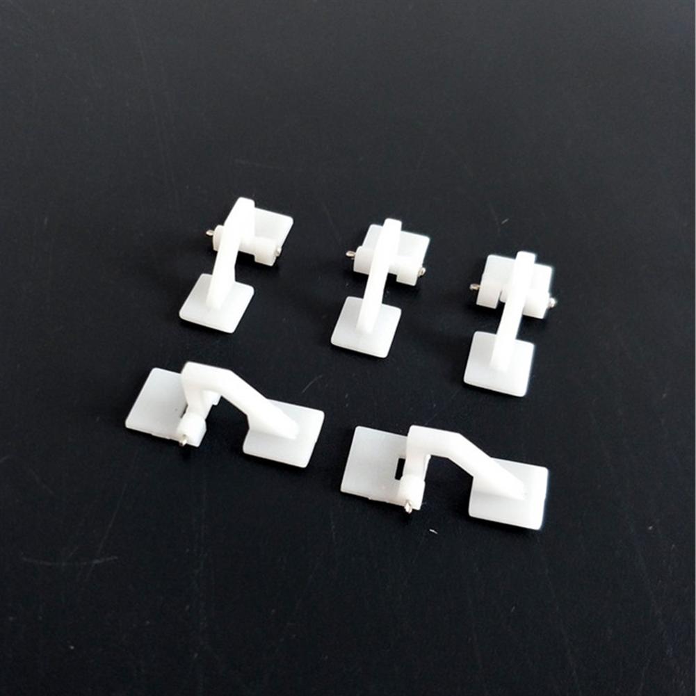 rc-airplane-parts 10PCS Plastic Mini Hatch Hinges 26x10.2mm for RC Airplane HOB1829221 1