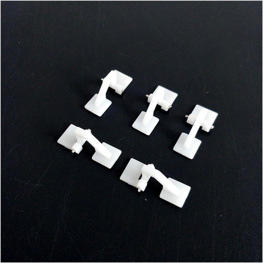 rc-airplane-parts 10PCS Plastic Mini Hatch Hinges 26x10.2mm for RC Airplane HOB1829221 2