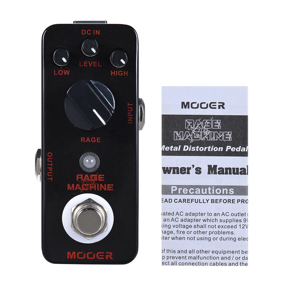 guitar-accessories MOOER Rage Machine Pedal True Bypass Excellent Sound Guitar Pedal HOB1829564