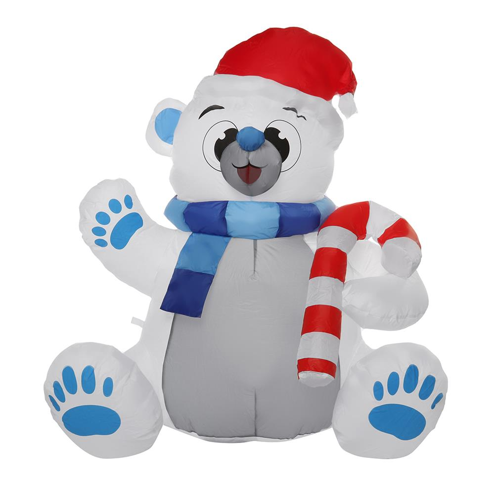 inflatable-toys 1.2M LED Christmas Waterproof Polyester Built-in Blower UV-resistant inflatable Bear Toy for Christmas Decoration Party Gift HOB1829733