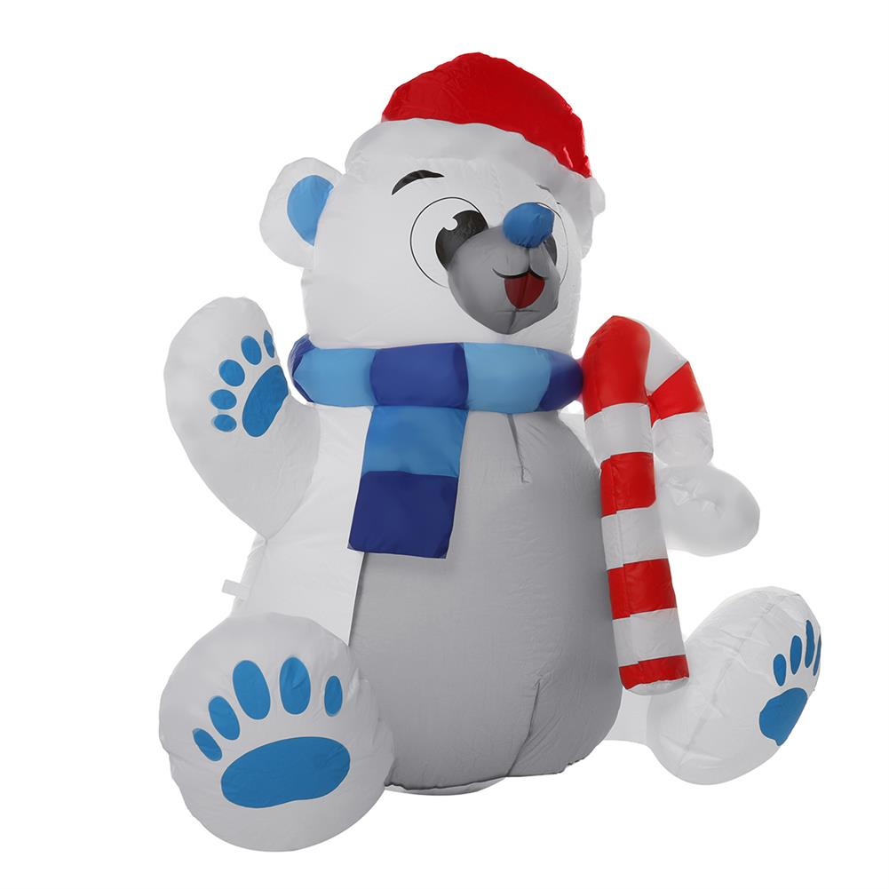 inflatable-toys 1.2M LED Christmas Waterproof Polyester Built-in Blower UV-resistant inflatable Bear Toy for Christmas Decoration Party Gift HOB1829733 1