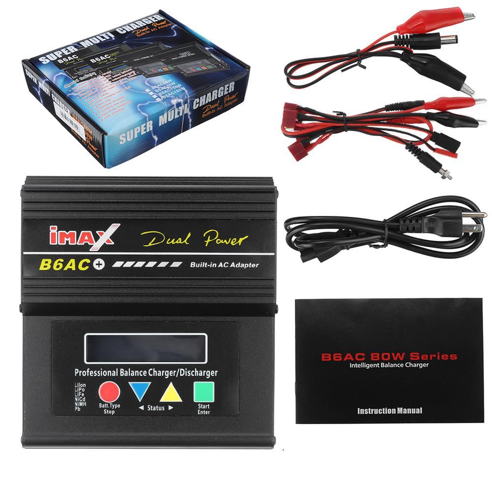 battery-charger B6AC Plus 80W 6A Smart Balance Charger for LiPo Lilon LiFe NiCd NiMH Battery HOB1829804