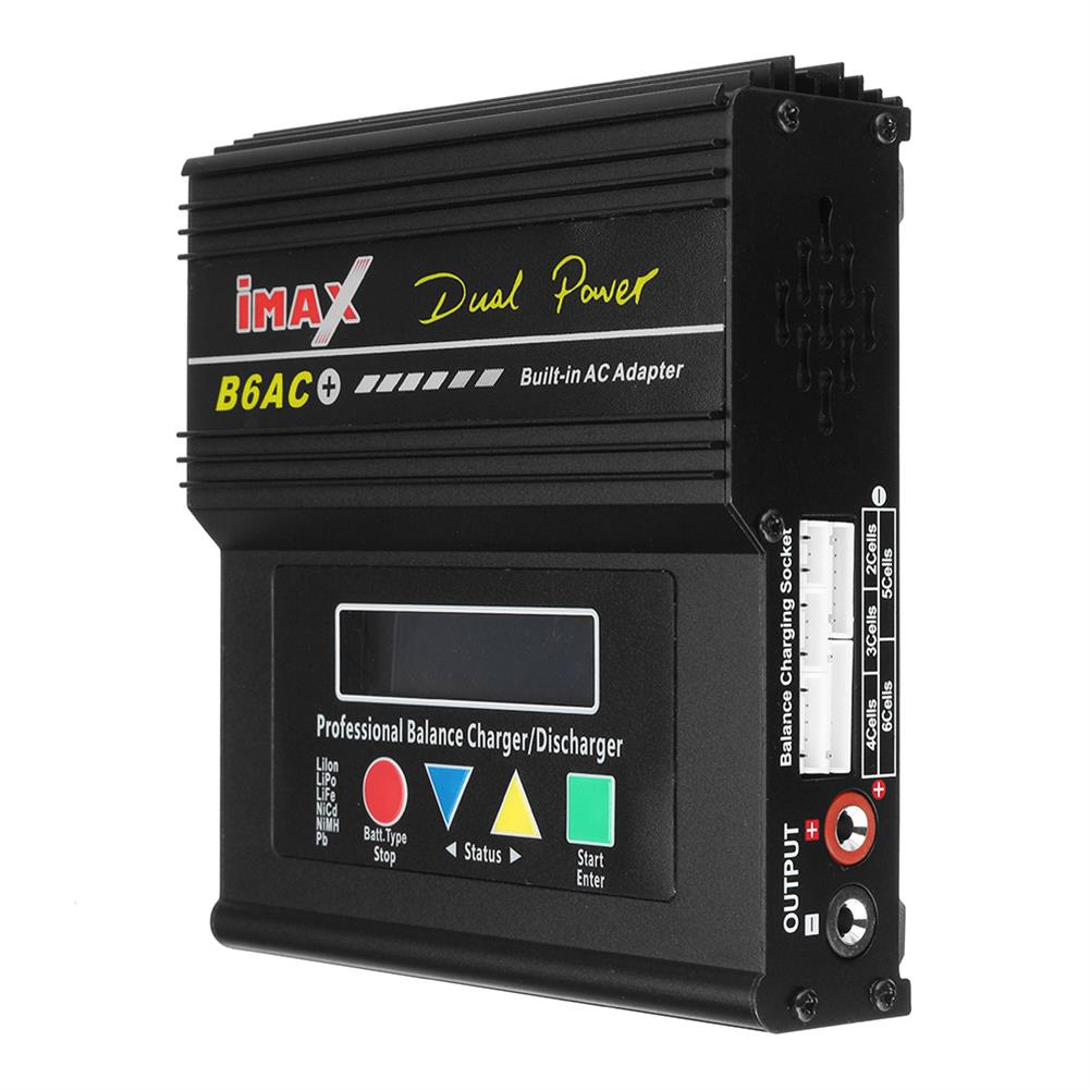 battery-charger B6AC Plus 80W 6A Smart Balance Charger for LiPo Lilon LiFe NiCd NiMH Battery HOB1829804 3