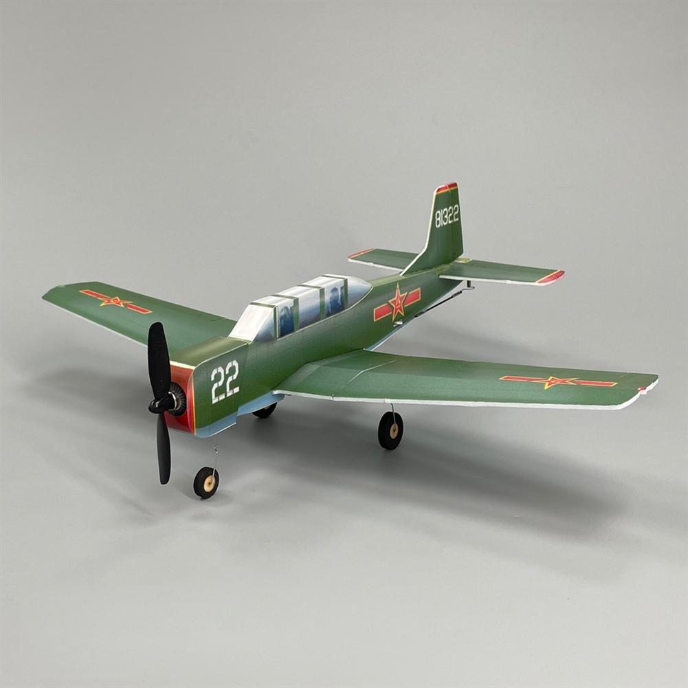 rc-airplane MinimumRC NanChang CJ-6 340mmPLA KT Foam Air force Trainer Aircraft RC Airplane KIT+Motor / KIT+Motor+Servo HOB1830104 1