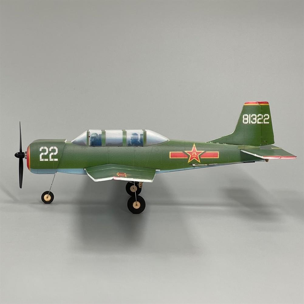 rc-airplane MinimumRC NanChang CJ-6 340mmPLA KT Foam Air force Trainer Aircraft RC Airplane KIT+Motor / KIT+Motor+Servo HOB1830104 2