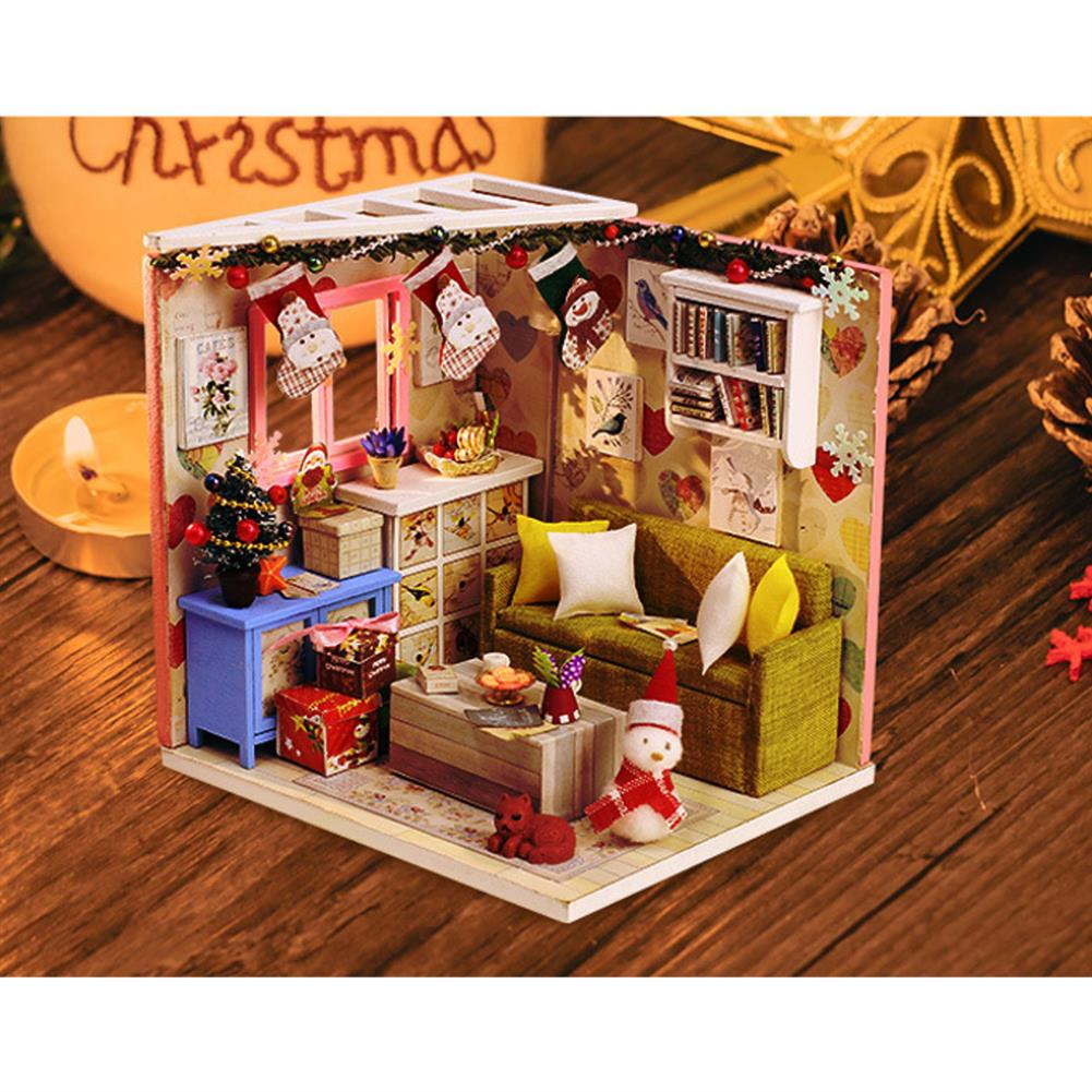 doll-house-miniature Iiecreate DIY Doll House House Handmade Assembled Educational Toy Art House Christmas Gift Creative Birthday Gift with Dust Cover And Furniture HOB1830391 1