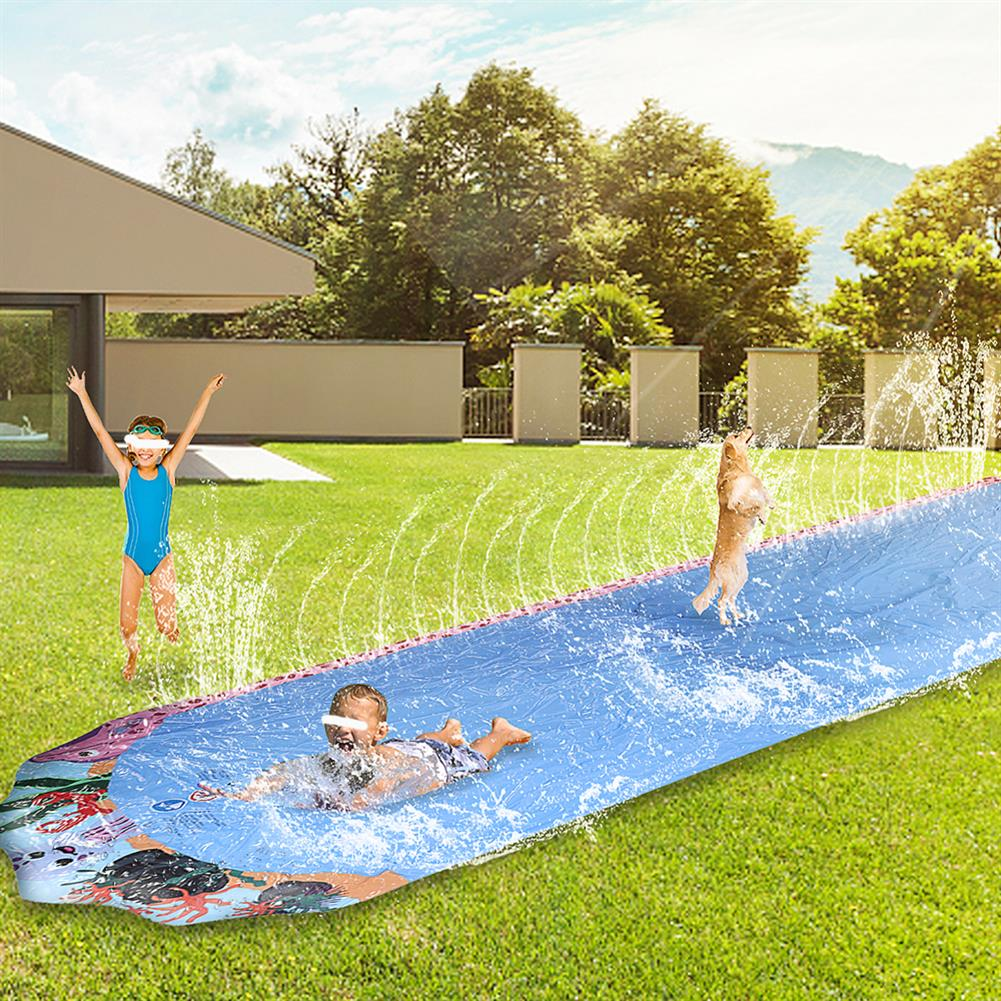inflatable-toys 600*103cm Giant Surf Lawn Summer Pool Water Play Slide Ladder for Children To Surf Outdoor Toys HOB1830408