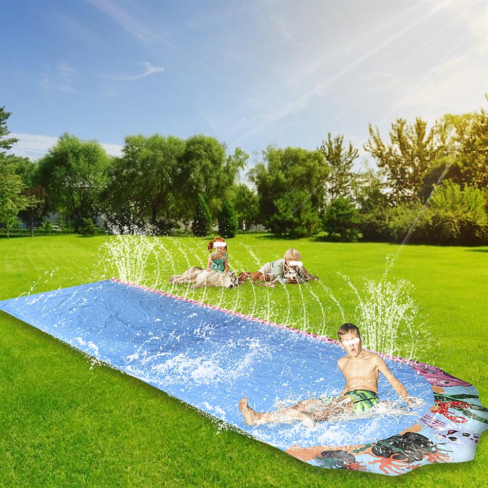 inflatable-toys 600*103cm Giant Surf Lawn Summer Pool Water Play Slide Ladder for Children To Surf Outdoor Toys HOB1830408 1