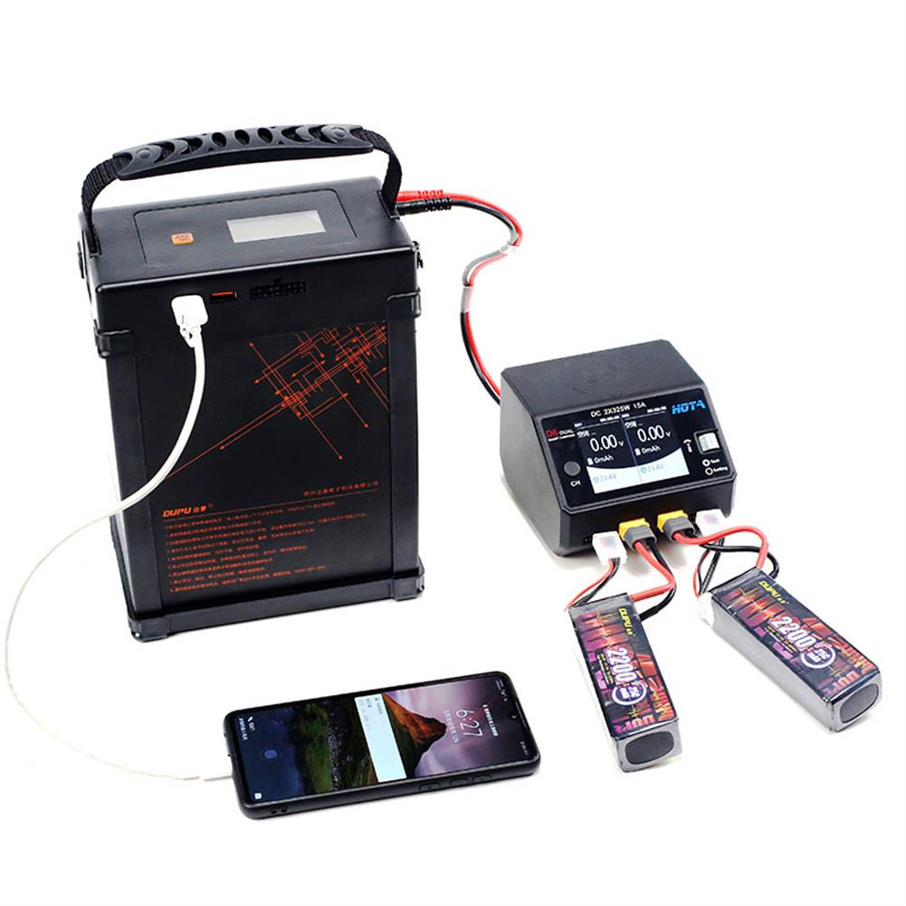 rc-quadcopter-parts DUPU Portable Power Supply Station 24V/460Wh 21A Battery Charging Kit for RC Drones HOB1831355 1