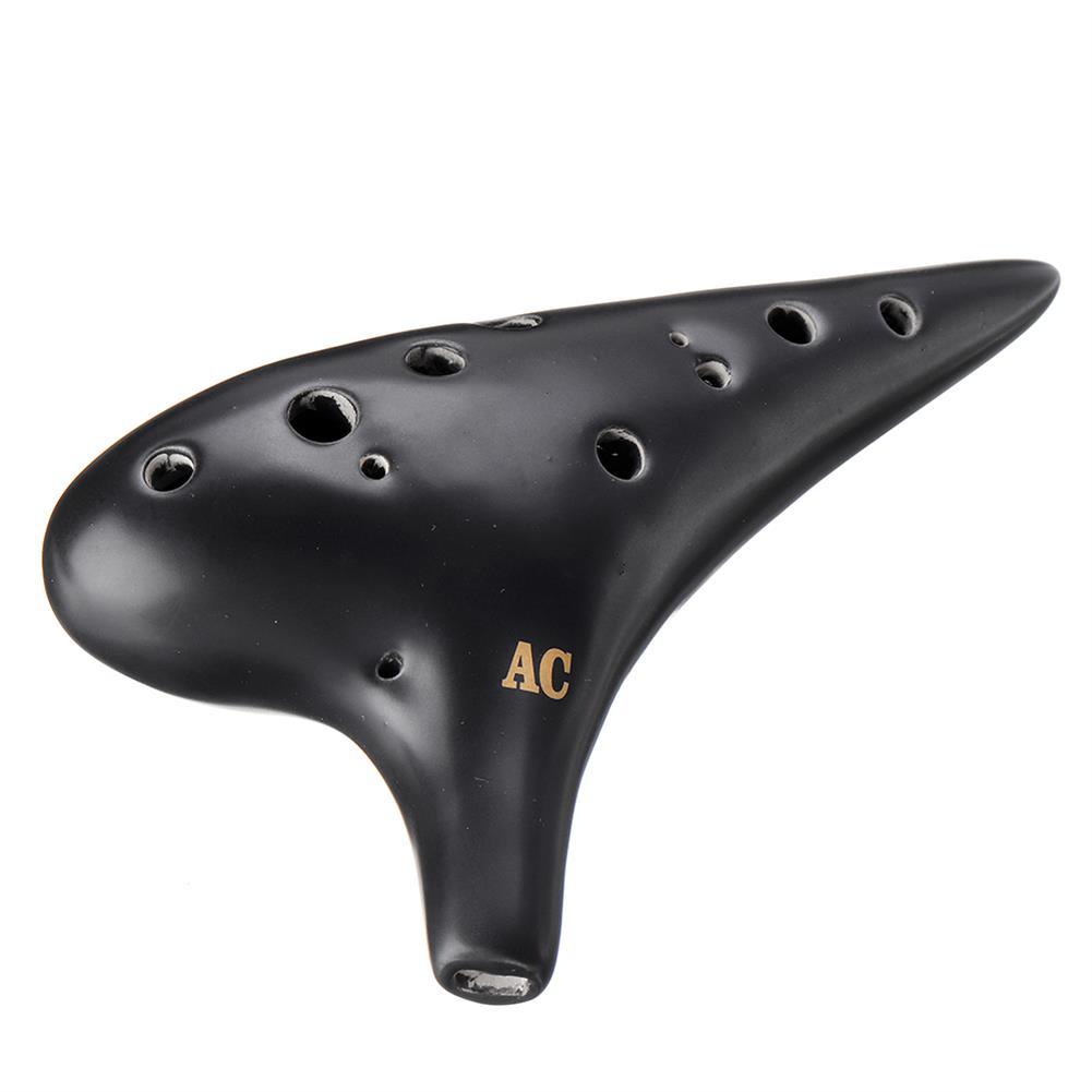 ocarina 12 Hole Ocarina Alto AC Key Black Ceramic Pipes HOB1832014 1