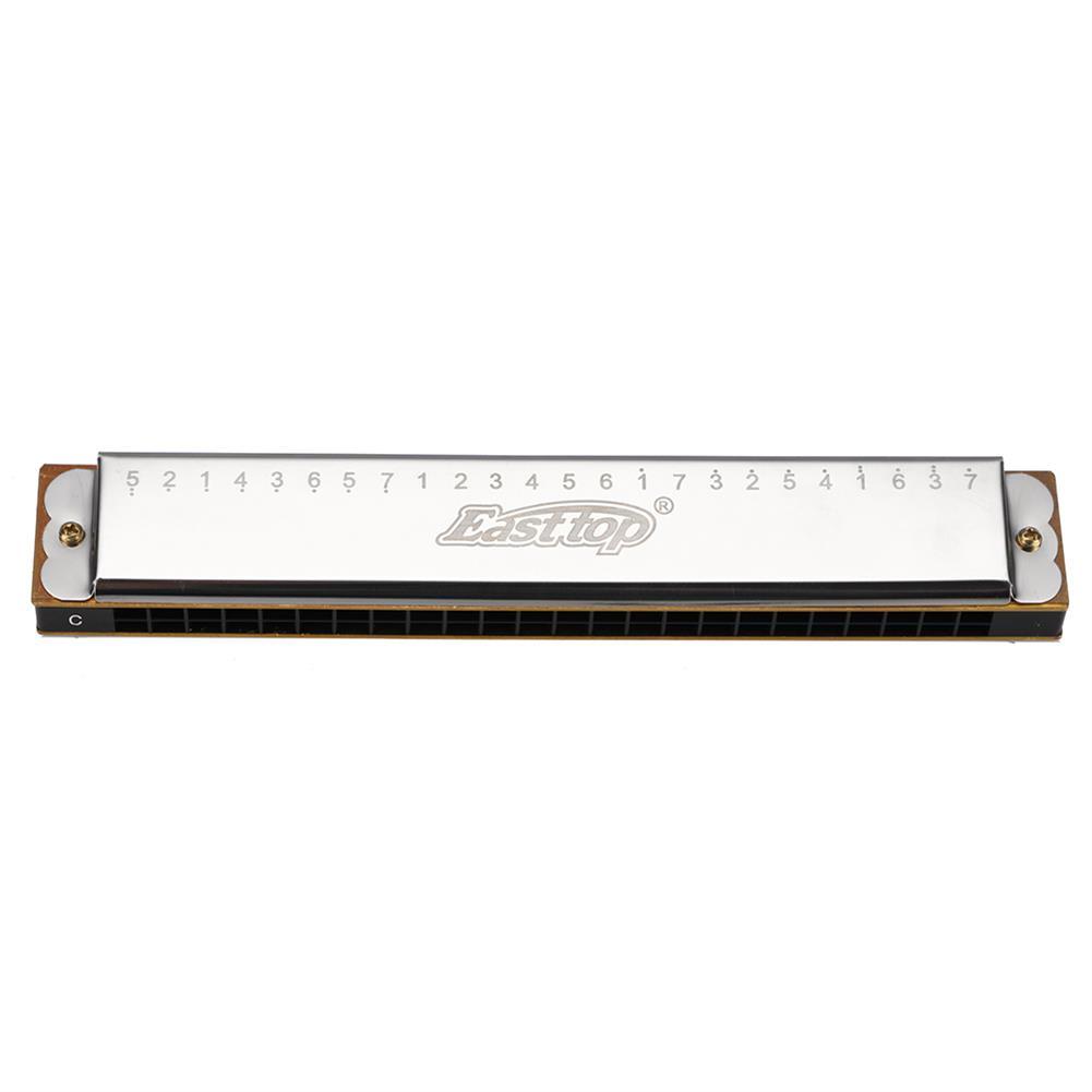 harmonica Easttop 24 Hole Tremolo Harmonica C Key Harp Woodwind Musical instrument Gaita innovative Design Scale Mouth Organ HOB1832432 1