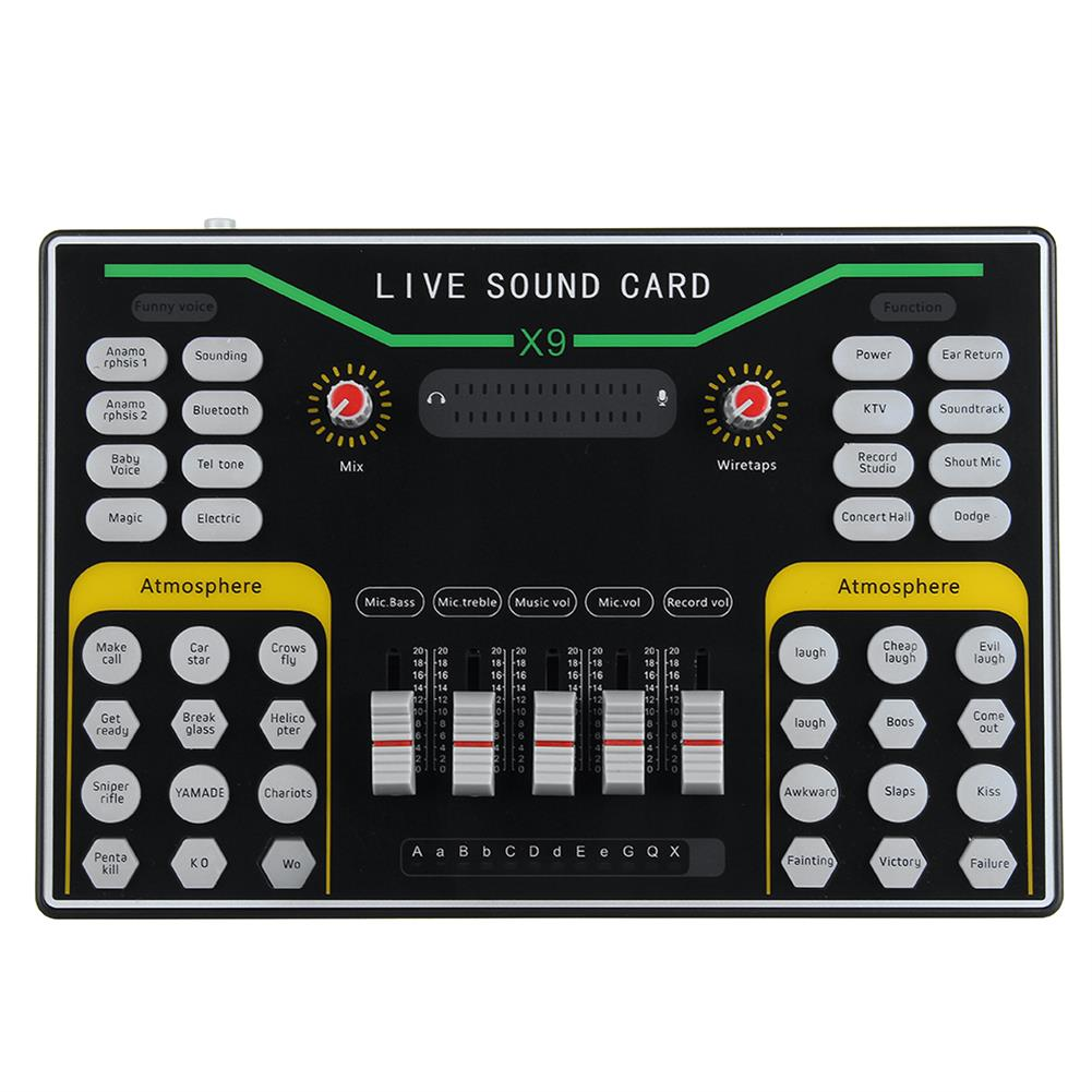 dj-mixers-equipment X9 Vibrato Fast Hand K Song Recording Device Dual Mobile Phone Live Broadcast Anchor USB 2-Channel Sound Card HOB1834263