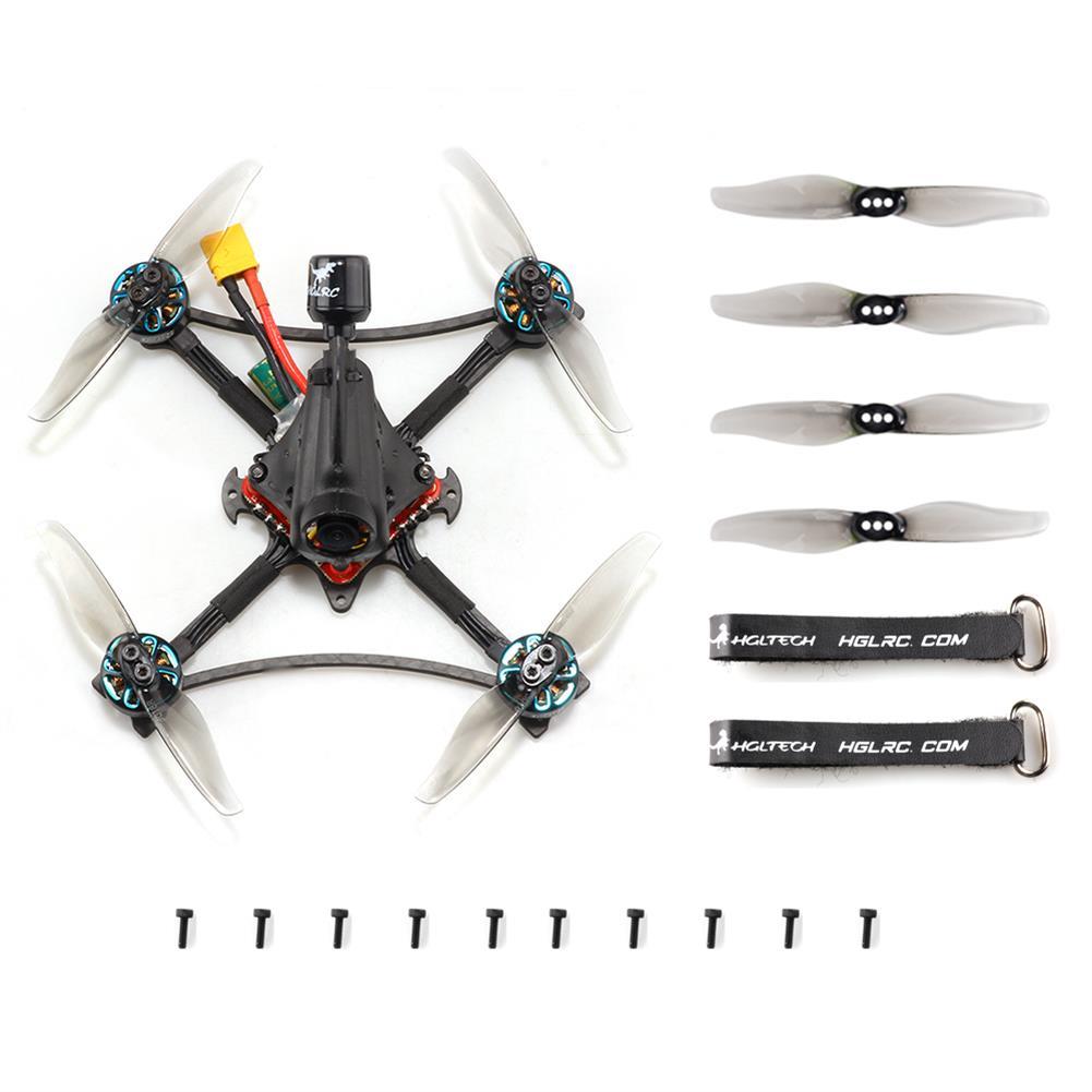 fpv-racing-drone HGLRC Petrel 120X 120mm 6S Zeus13 AIO F4 3 inch Ultralight Toothpick FPV Racing Drone PNP BNF w/ 1303.5 2500KV Motor 25-350mW VTX CADDX ANT 1000TVL Camera HOB1835103 3