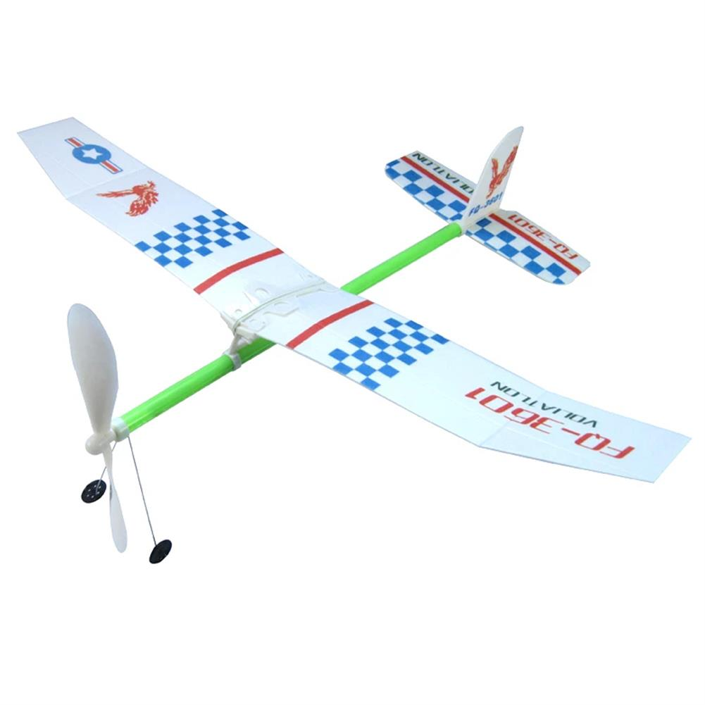 plane-parachute-toys Rubber Bands Power Plane Hand Launch Throwing Airplane Foam inertial Gliders Aircraft Outdoor Toys for Kids Gifts HOB1835490