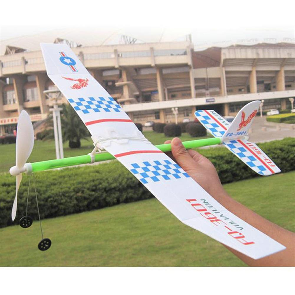plane-parachute-toys Rubber Bands Power Plane Hand Launch Throwing Airplane Foam inertial Gliders Aircraft Outdoor Toys for Kids Gifts HOB1835490 1