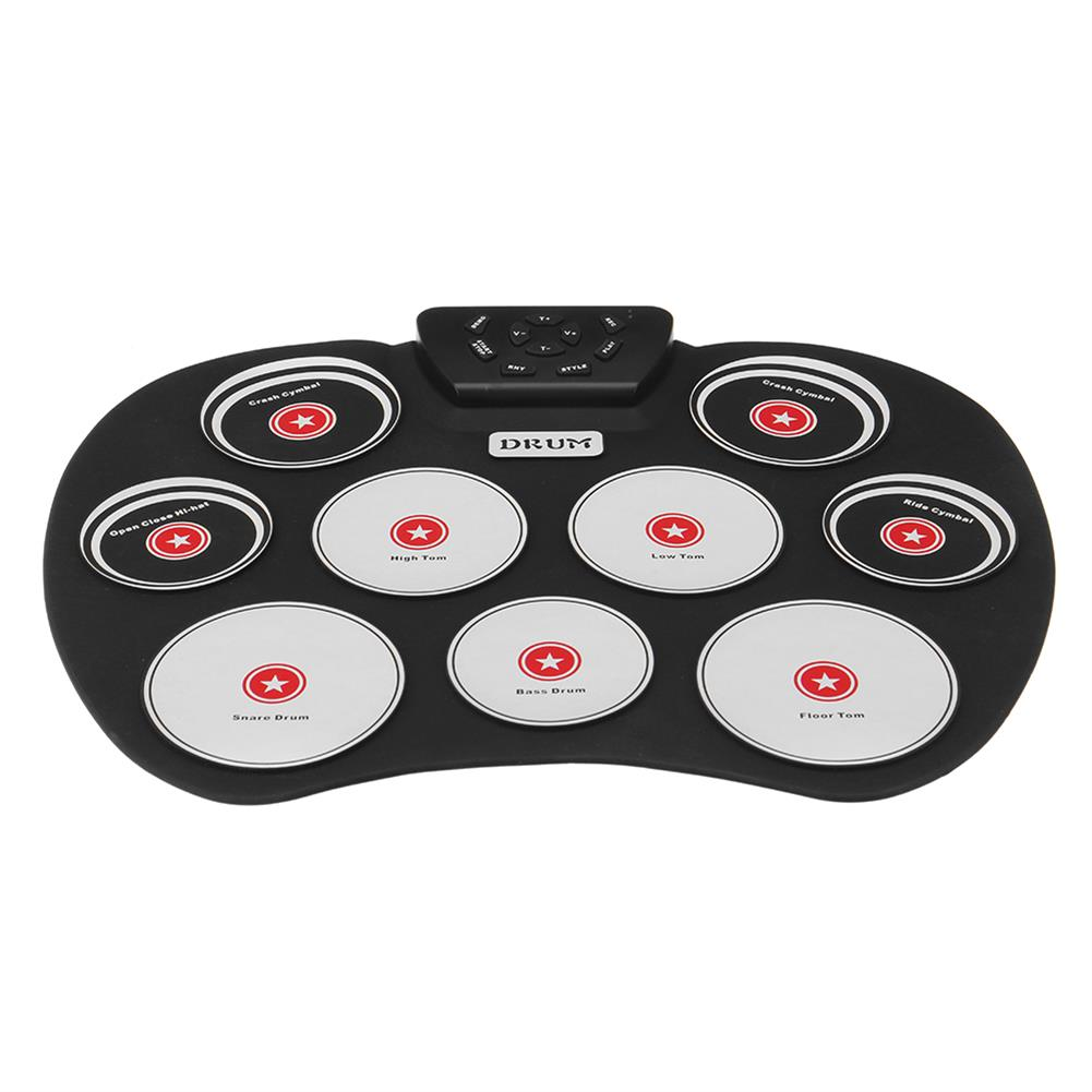 electronic-drums Portable Electronics Drum Set Roll Up Drum Kit 9 Silicone Pads USB Powered with Foot Pedals Drumsticks USB Cable HOB1835496 1