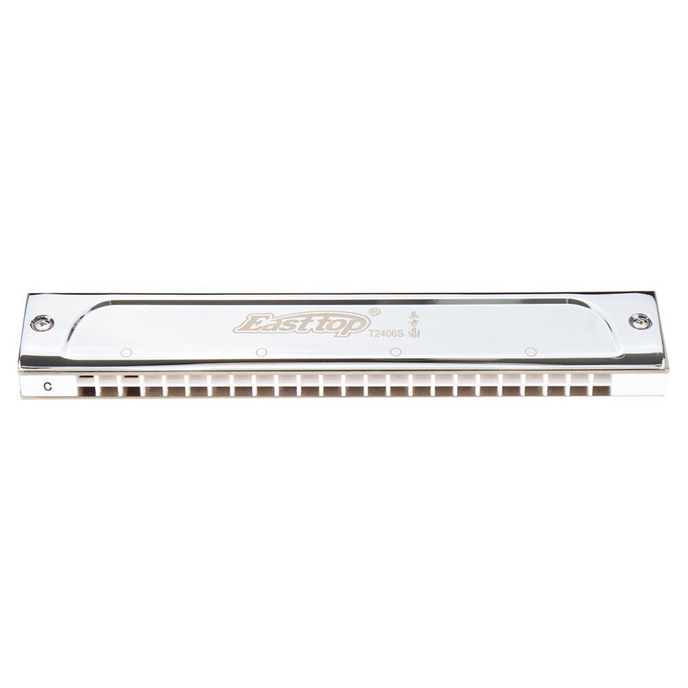 harmonica Easttop T2406S Harmonica 24 Hole C Key Polyphonic Harmonica Adult Professional Playing Harmonica Musical instrument HOB1835696 1