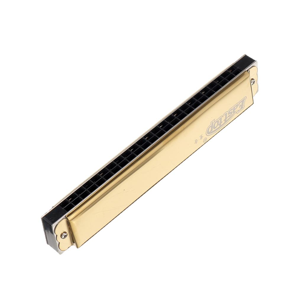 harmonica Easttop T2410 24 Holes C Key Octave Harmonica with Leather Box HOB1835847 1