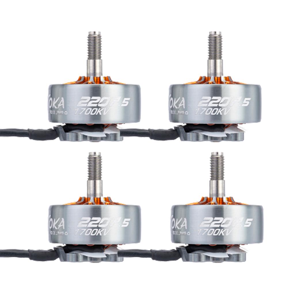 multi-rotor-parts 4 PCS MAMBA TOKA 2207.5 1700KV 4-6S Brushless Motor M5 Shaft for ROMA F5 5/6 inch RC Drone FPV Racing HOB1836765
