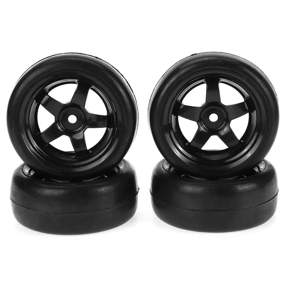 rc-car-parts WPL D12 1/10 Upgraded RC Car Wheel Tire Drift Soft Tire W/ Conncetor RC Car Parts HOB1836869 1