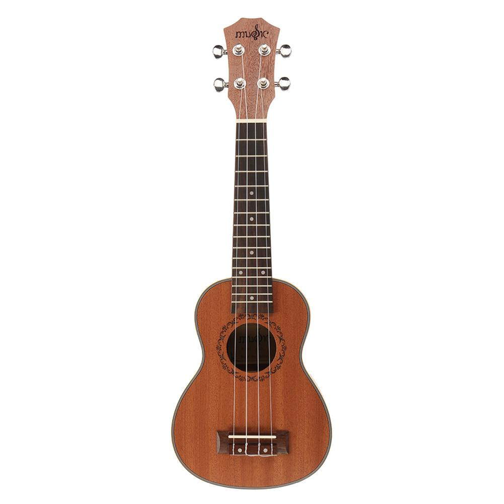 ukulele 21 inch 4 Strings Sapele Ukulele w/Gig Bag,Tuner,Capo,Nylon Strings,Picks,Strap for Beginners,Adults HOB1837187 1