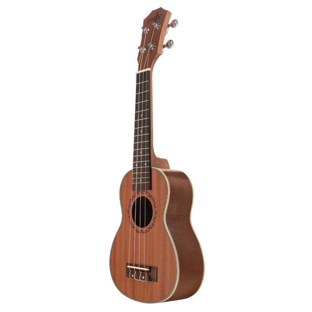ukulele 21 inch 4 Strings Sapele Ukulele w/Gig Bag,Tuner,Capo,Nylon Strings,Picks,Strap for Beginners,Adults HOB1837187 2