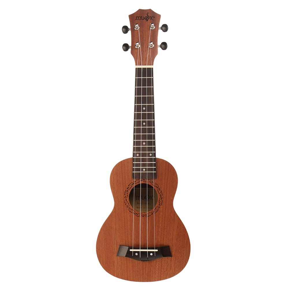 ukulele 21 inch 4 Strings Sapele Ukulele w/Gig Bag,Tuner,Capo,Nylon Strings,Picks,Strap for Beginners,Adults HOB1837197 1