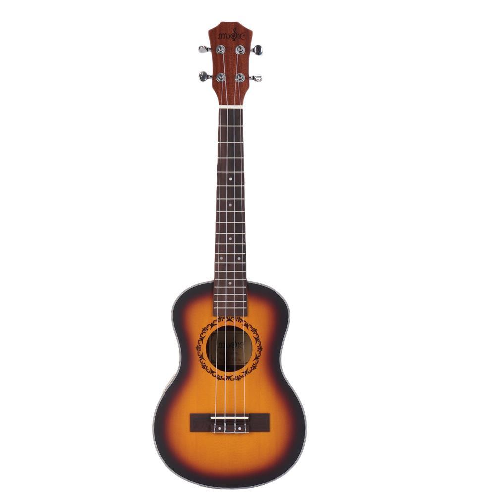 ukulele 26 inch 4 Strings Spruce Ukulele w/Gig Bag,Tuner,Capo,Nylon Strings,Picks,Strap for Beginners,Adults HOB1837215 1