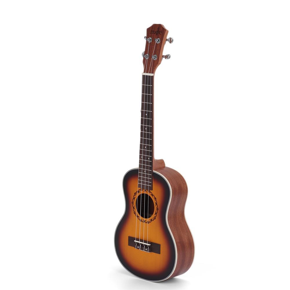 ukulele 26 inch 4 Strings Spruce Ukulele w/Gig Bag,Tuner,Capo,Nylon Strings,Picks,Strap for Beginners,Adults HOB1837215 2