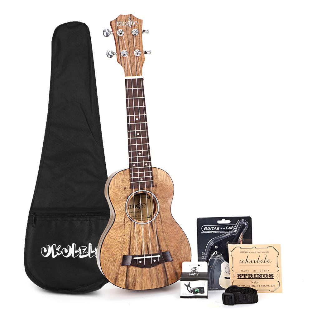 ukulele 21/23 inch 4 Strings Walnut Ukulele w/Gig Bag,Tuner,Capo,Nylon Strings,Picks,Strap for Beginners,Adults HOB1837238
