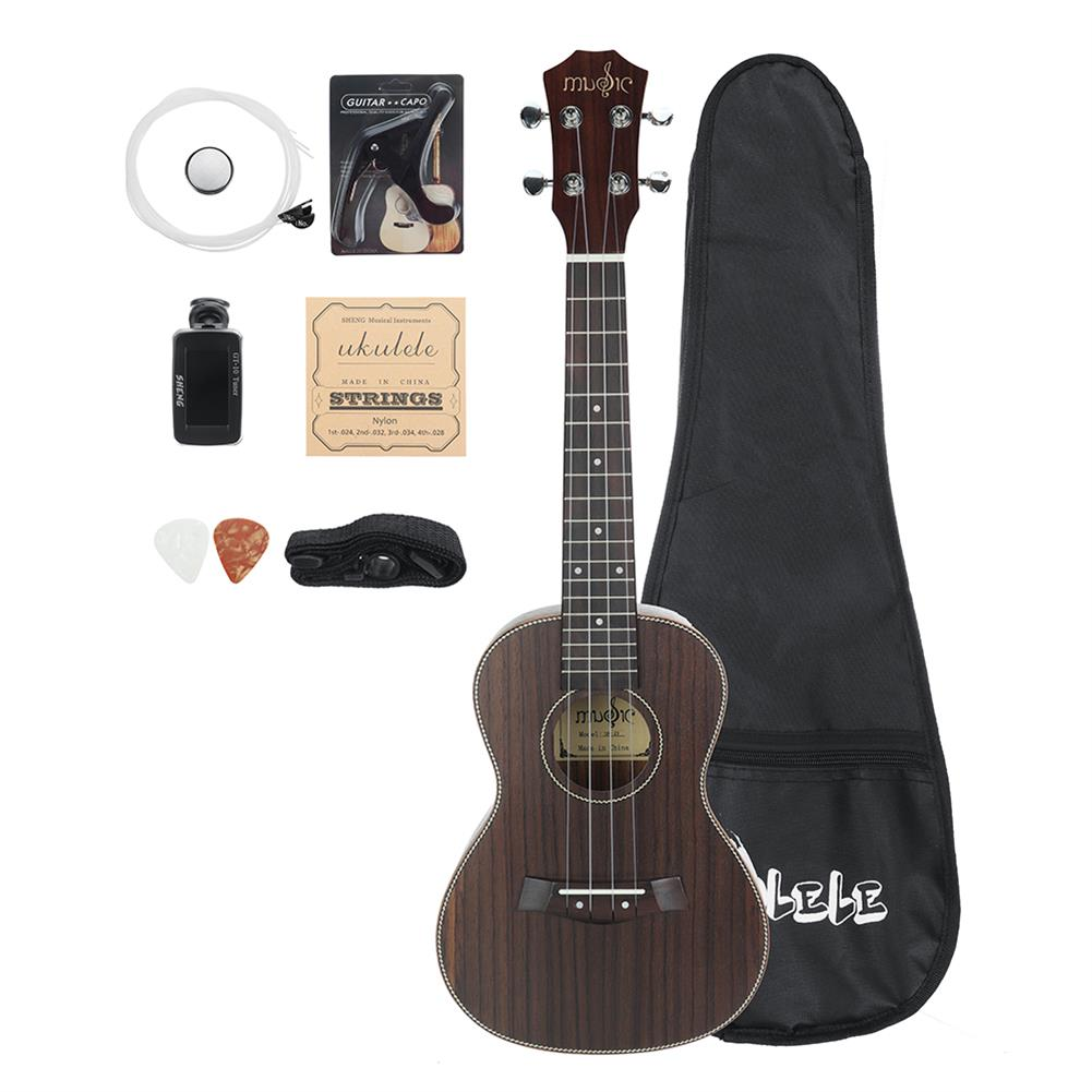 ukulele 23 inch 4 Strings Rosewood Ukulele w/Gig Bag,Tuner,Capo,Nylon Strings,Picks,Strap for Beginners,Adults HOB1837249
