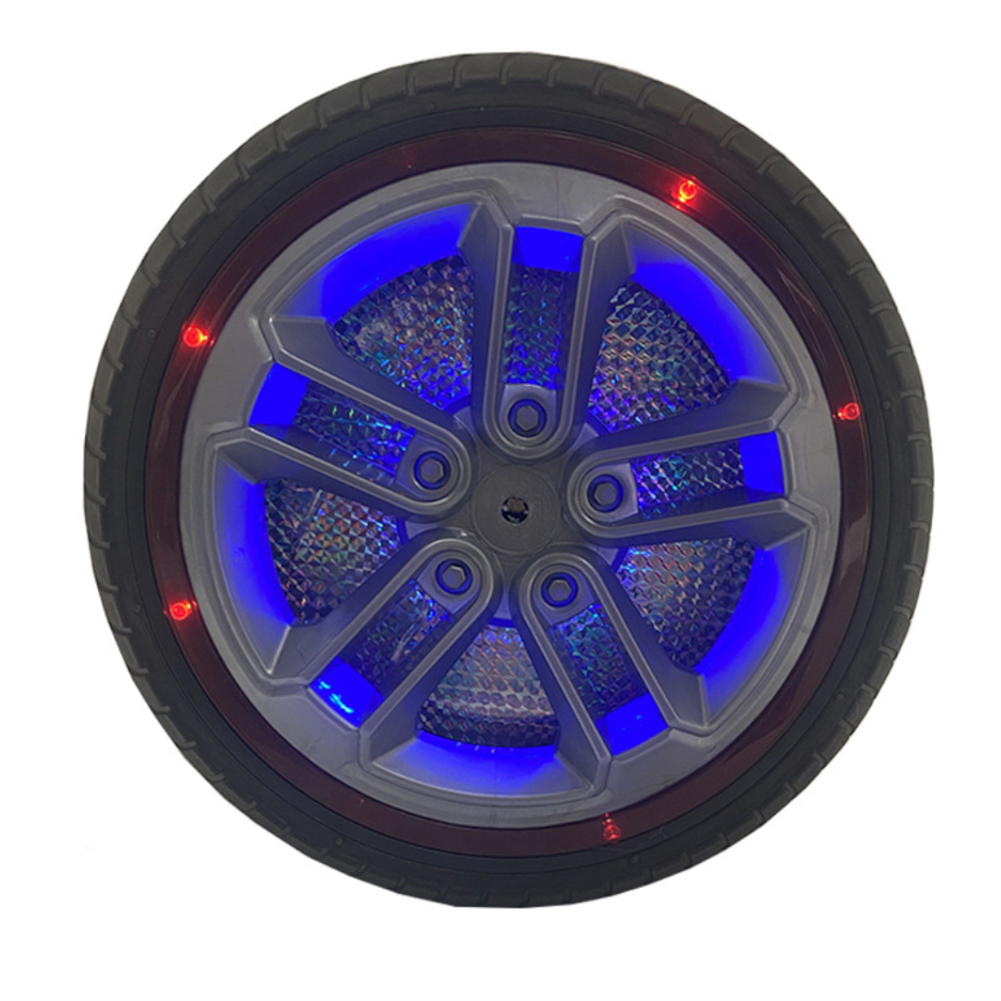 rc-car-parts 1PC 34cm Children's Ride on Car Wheel Tires with Lights Non-inflatable Rubber Solid Tires HOB1837776 1
