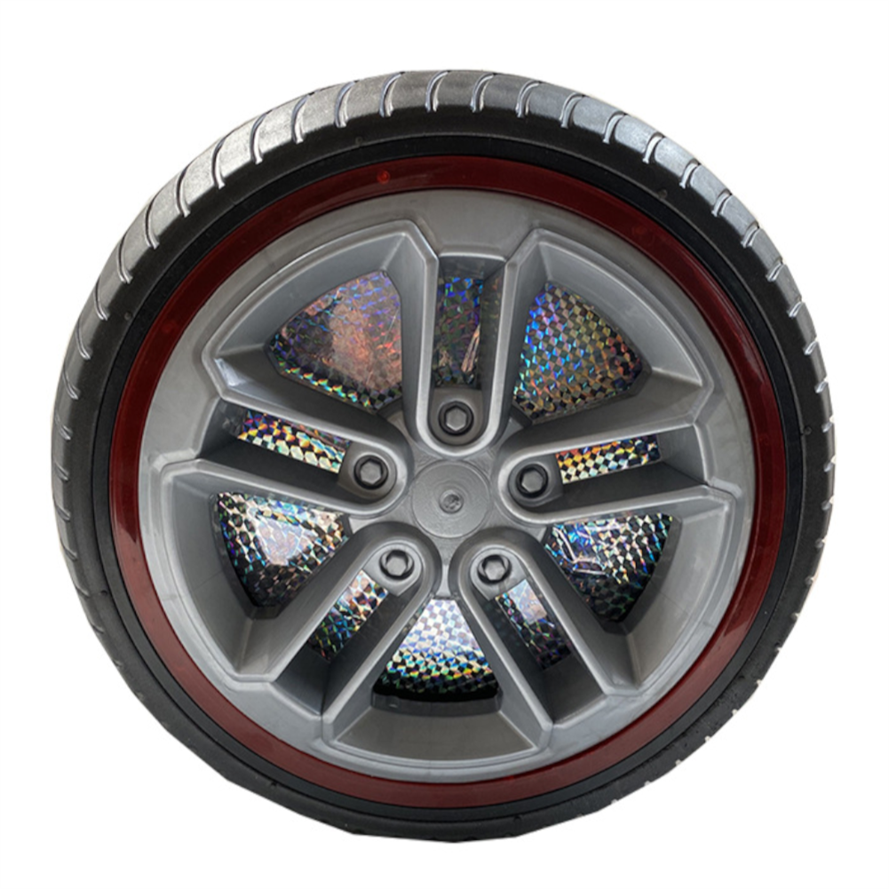 rc-car-parts 1PC 34cm Children's Ride on Car Wheel Tires with Lights Non-inflatable Rubber Solid Tires HOB1837776 2