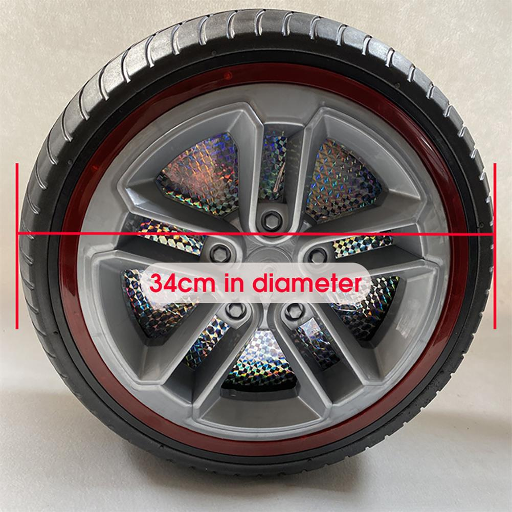 rc-car-parts 1PC 34cm Children's Ride on Car Wheel Tires with Lights Non-inflatable Rubber Solid Tires HOB1837776 3