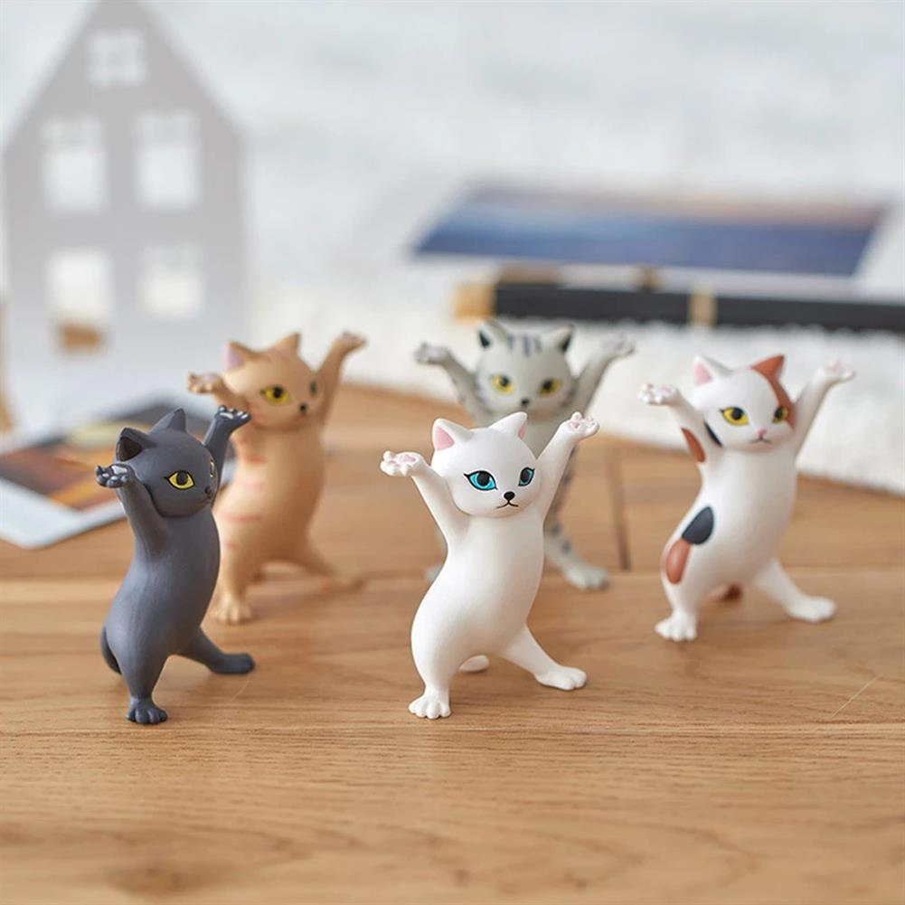 dolls-action-figure 1 PC Cartoon Dancing Cat Figure Doll Figurines Handmade Enchanting Kittens Toy for office Pen Holder AirPods Desktop Display Decoration Collection Gift HOB1838450 1