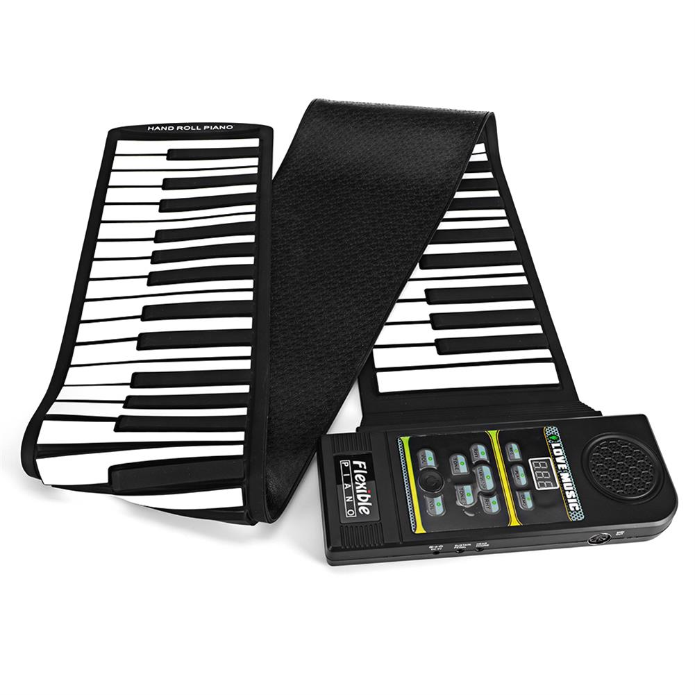 roll-up-piano 88 Standard Keys Foldable Portable Electronic Keyboard Roll Up Piano HOB1838768 2
