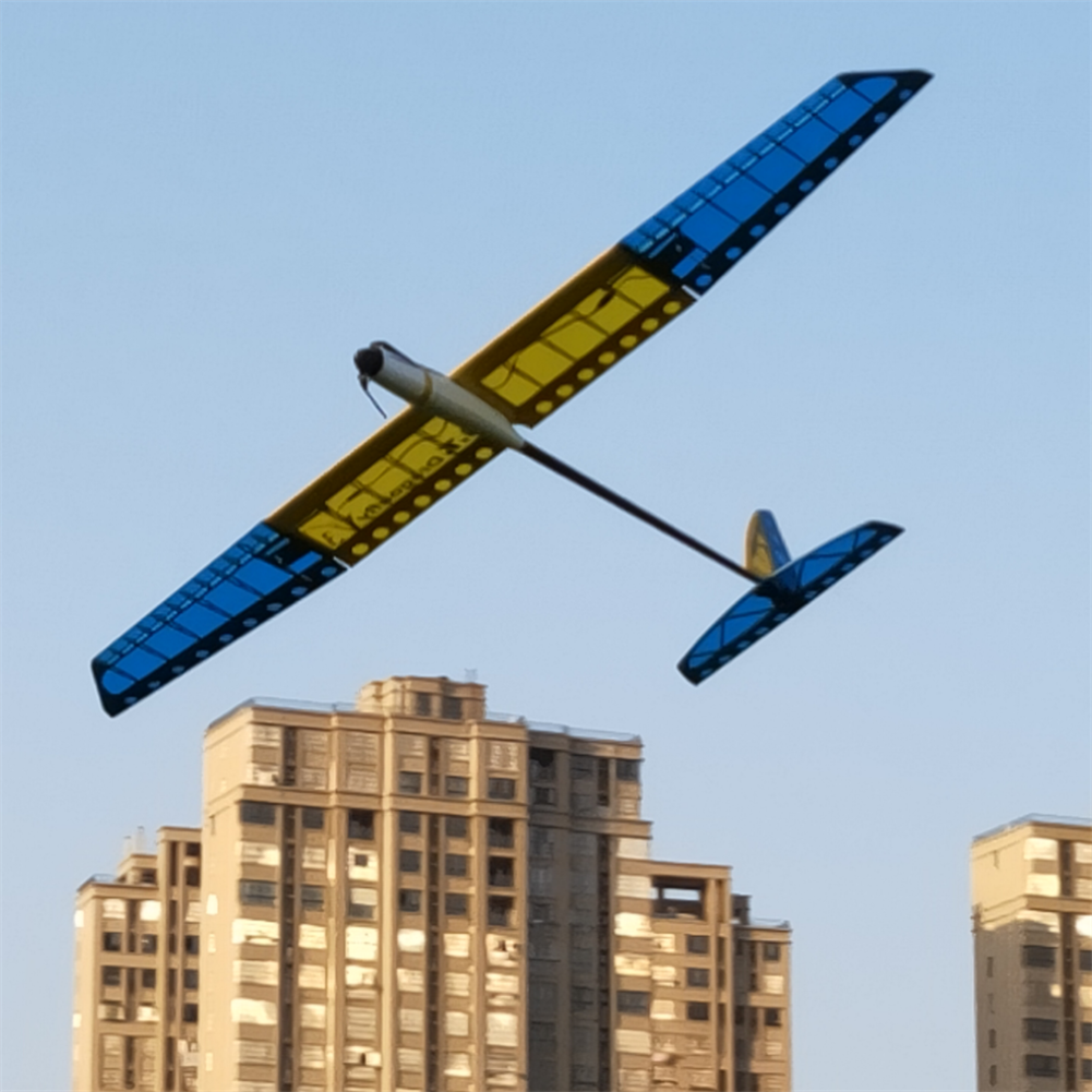rc-airplane G.T.RC GT1500 V3 Dragonfly 1500mm Wingspan Blasa Wood RC Airplane Glider with Flaps KIT/PNP HOB1839725 1
