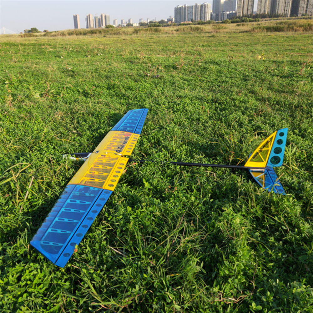rc-airplane G.T.RC GT1500 V3 Dragonfly 1500mm Wingspan Blasa Wood RC Airplane Glider with Flaps KIT/PNP HOB1839725 2