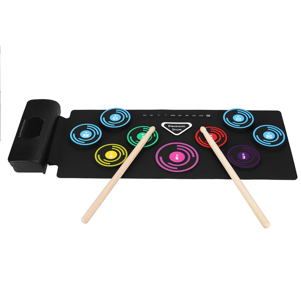 electronic-drums Electronic Roll-Up Drum Set Folded Silicone Electronic Drum Thicken Drum with MIDI HOB1840474 1