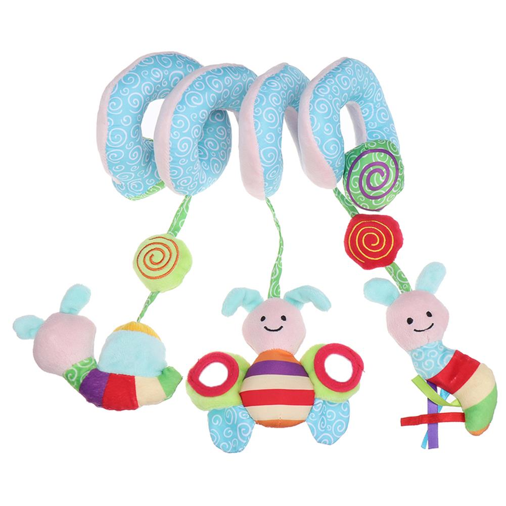 baby-rattles-mobiles Cute Animal Music Sounding Car Hanging Bed Hanging Spiral Rattles Baby Toys HOB1840523