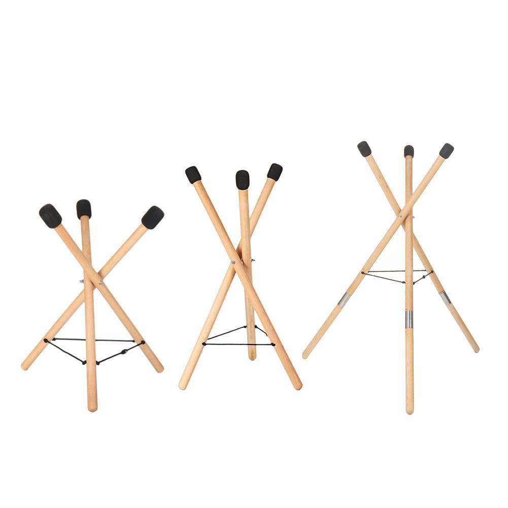 percussion-accessories HLURU Musical instrument Handpan Steel Tongue Drum Universal Solid Wood Performance Drum Bracket HOB1840599