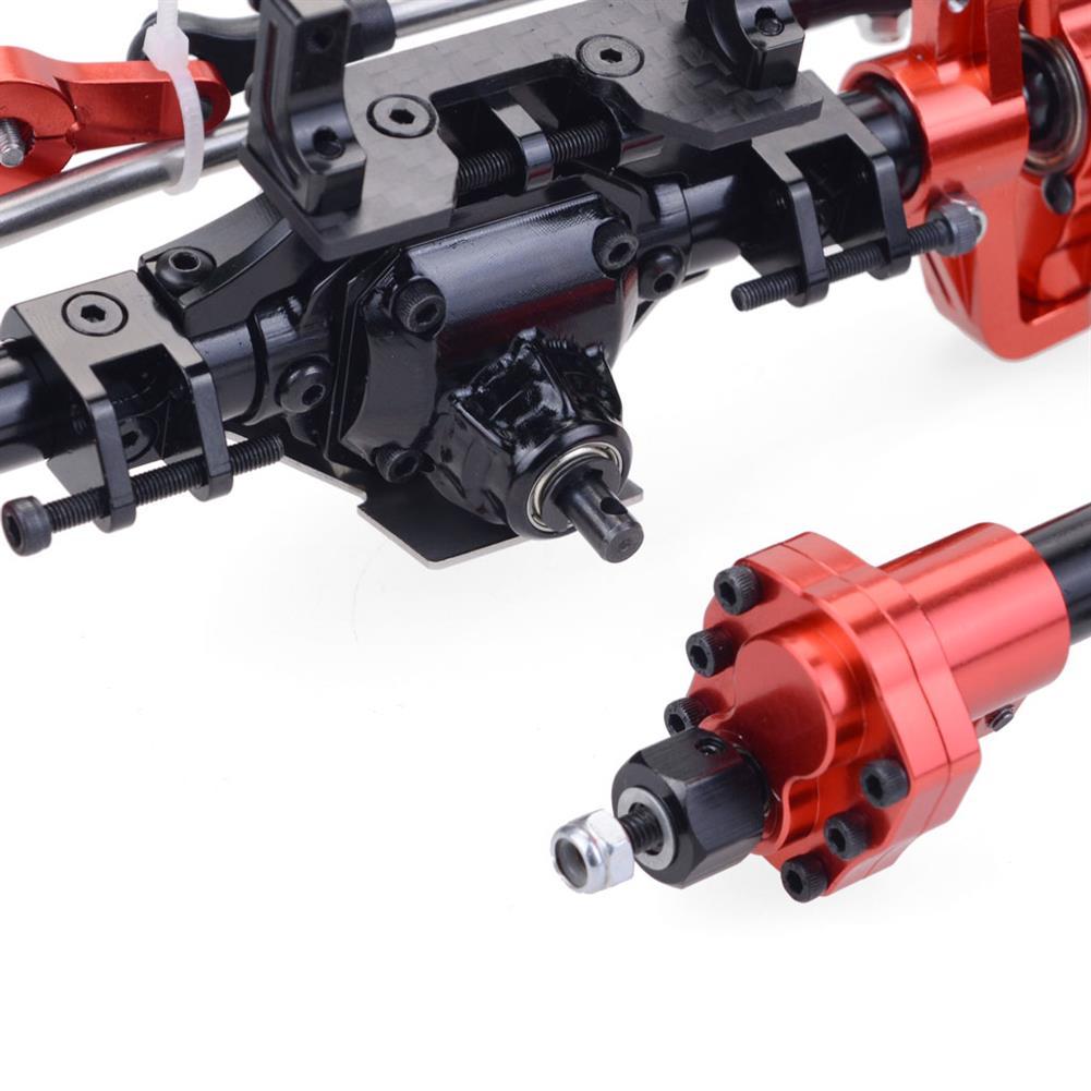 rc-car-parts Aluminum CNC Full Front Rear Portal Axle Bridge for 1/10 RC Crawler Car Axial SCX10 II 90046 90047 Upgrade RC Car Parts HOB1840926 3