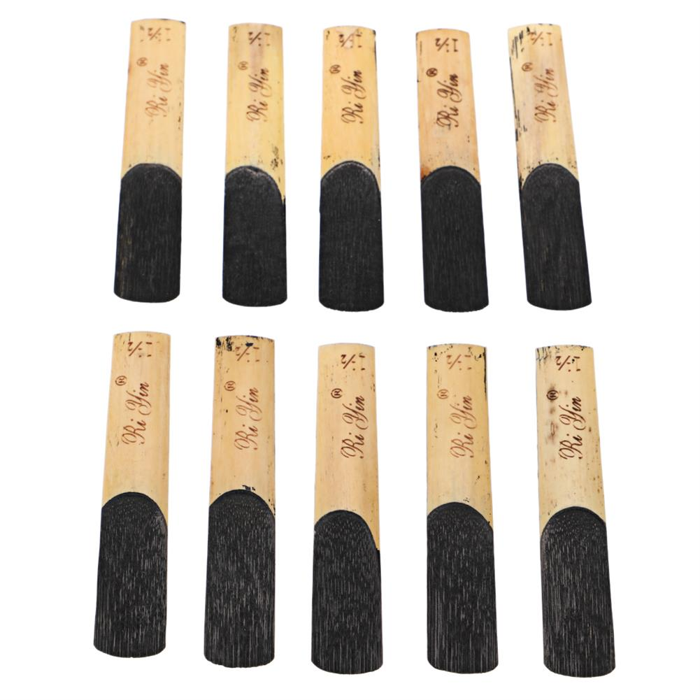 woodwind-brass-accessories Muspor 10pcs Clarinet Reeds Set Bb Tone Strength 1.5 Wind instrument Reed instrument Parts for Saxophone HOB1841156 1