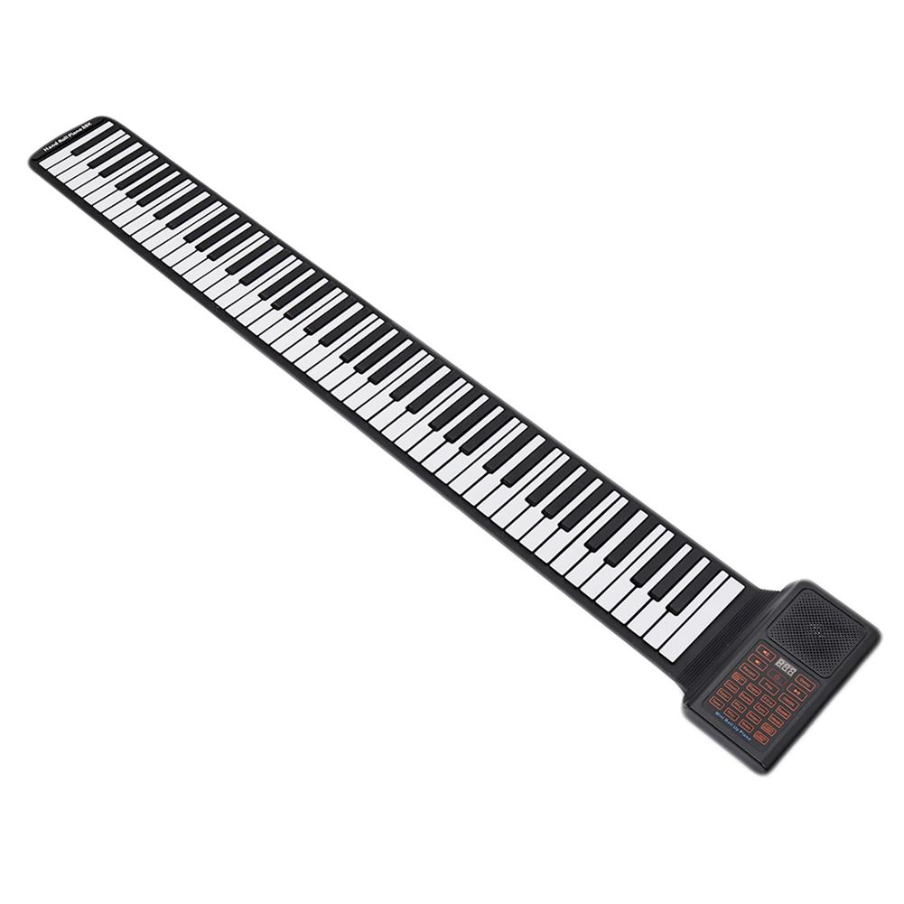 roll-up-piano Portable Keyboard Piano Roll Up 88 Keys Electronic Keyboard Flexible Silicone with Rechargeable Battery for Kid Gift HOB1841206 1