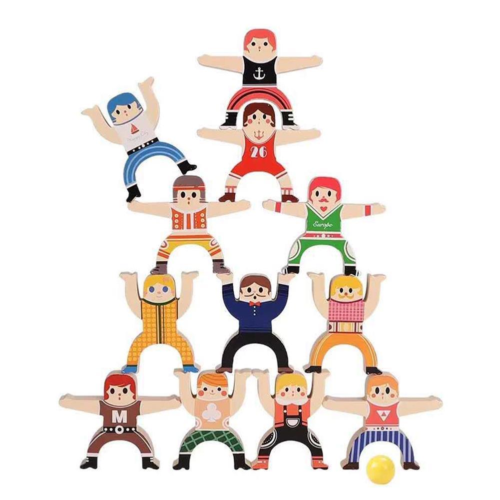 blocks-track-toys DIY Children's Hercules Jenga Building Blocks Early Education Puzzle Balance Jenga High Parent-child interactive Game Toys HOB1841207