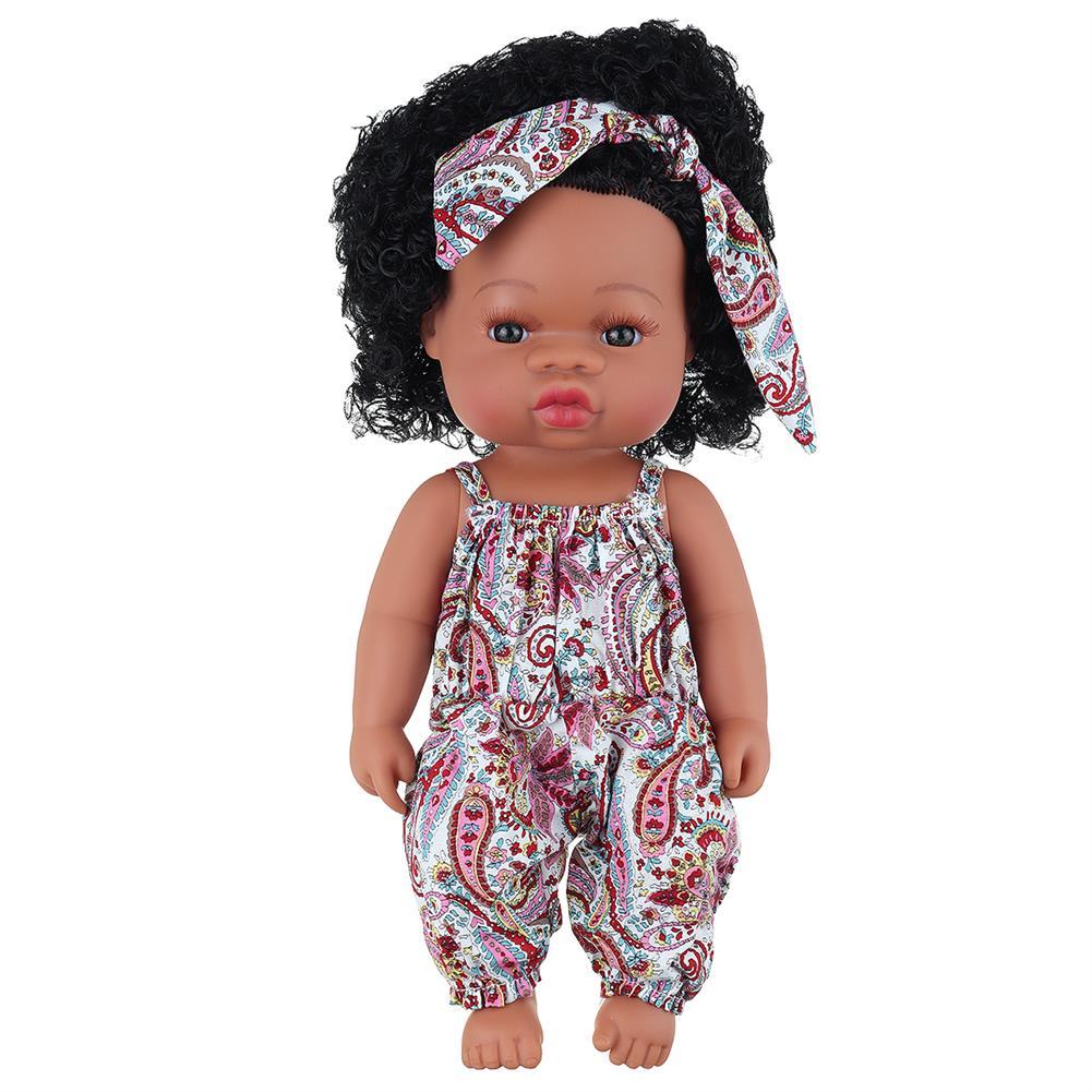 dolls-action-figure Black Baby Dolls Soft Silicone Vinyl Play Toy infant Reborn Handmade Doll Lifelike Newborn Gift HOB1841774 1
