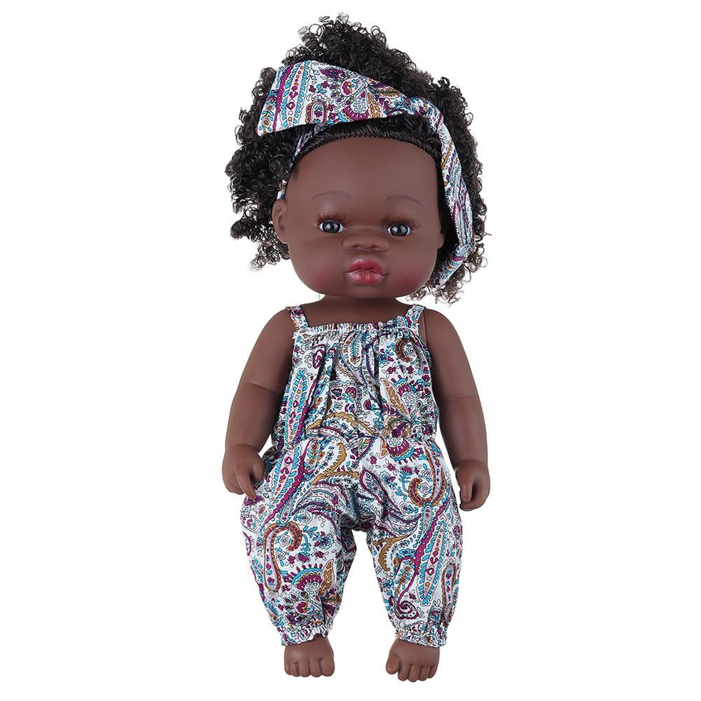 dolls-action-figure Black Baby Dolls Soft Silicone Vinyl Play Toy infant Reborn Handmade Doll Lifelike Newborn Gift HOB1841774 2