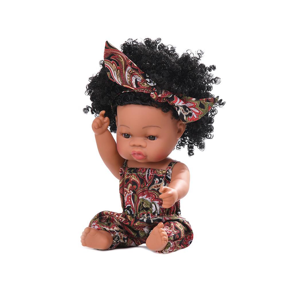dolls-action-figure Black Baby Dolls Soft Silicone Vinyl Play Toy infant Reborn Handmade Doll Lifelike Newborn Gift HOB1841774 3